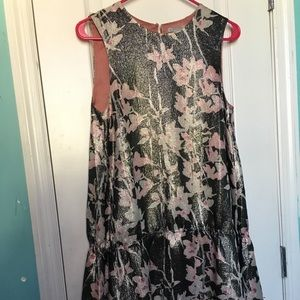H&M silk floral dress